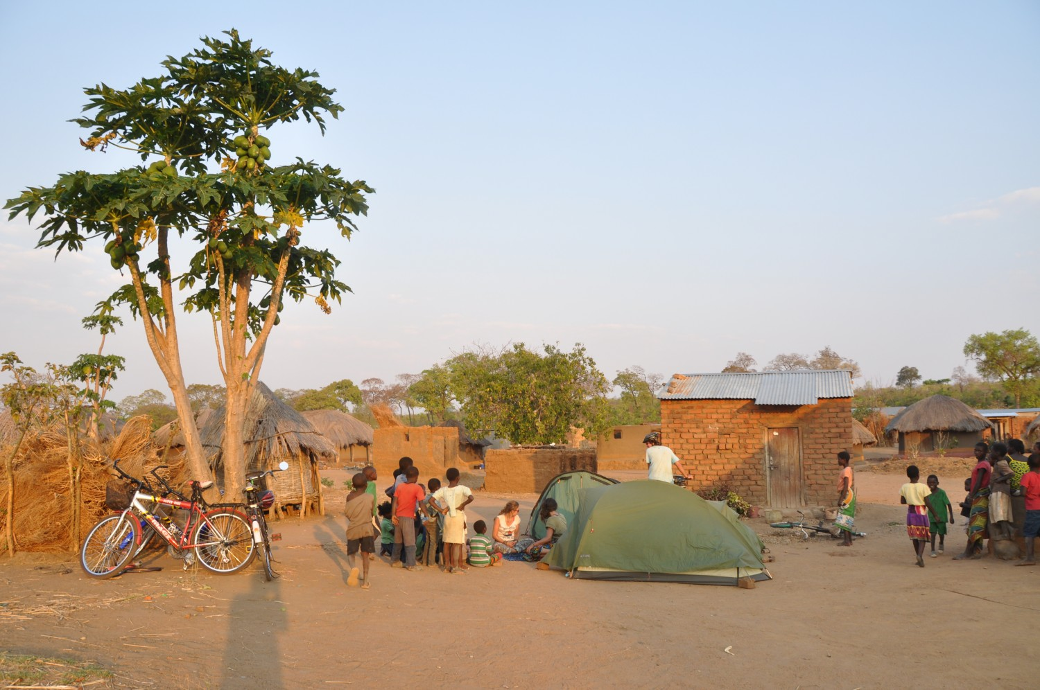 Our tents in Shisanti village