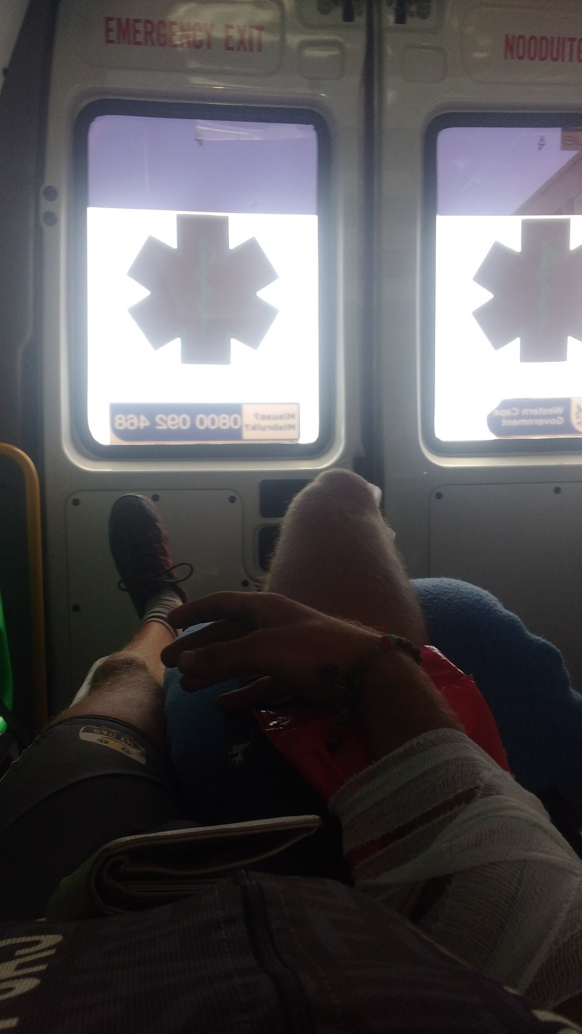 In the ambulance