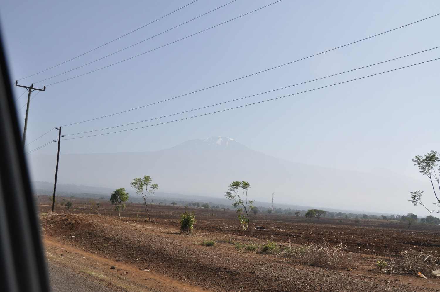 View of the Kilimanjaro from the car