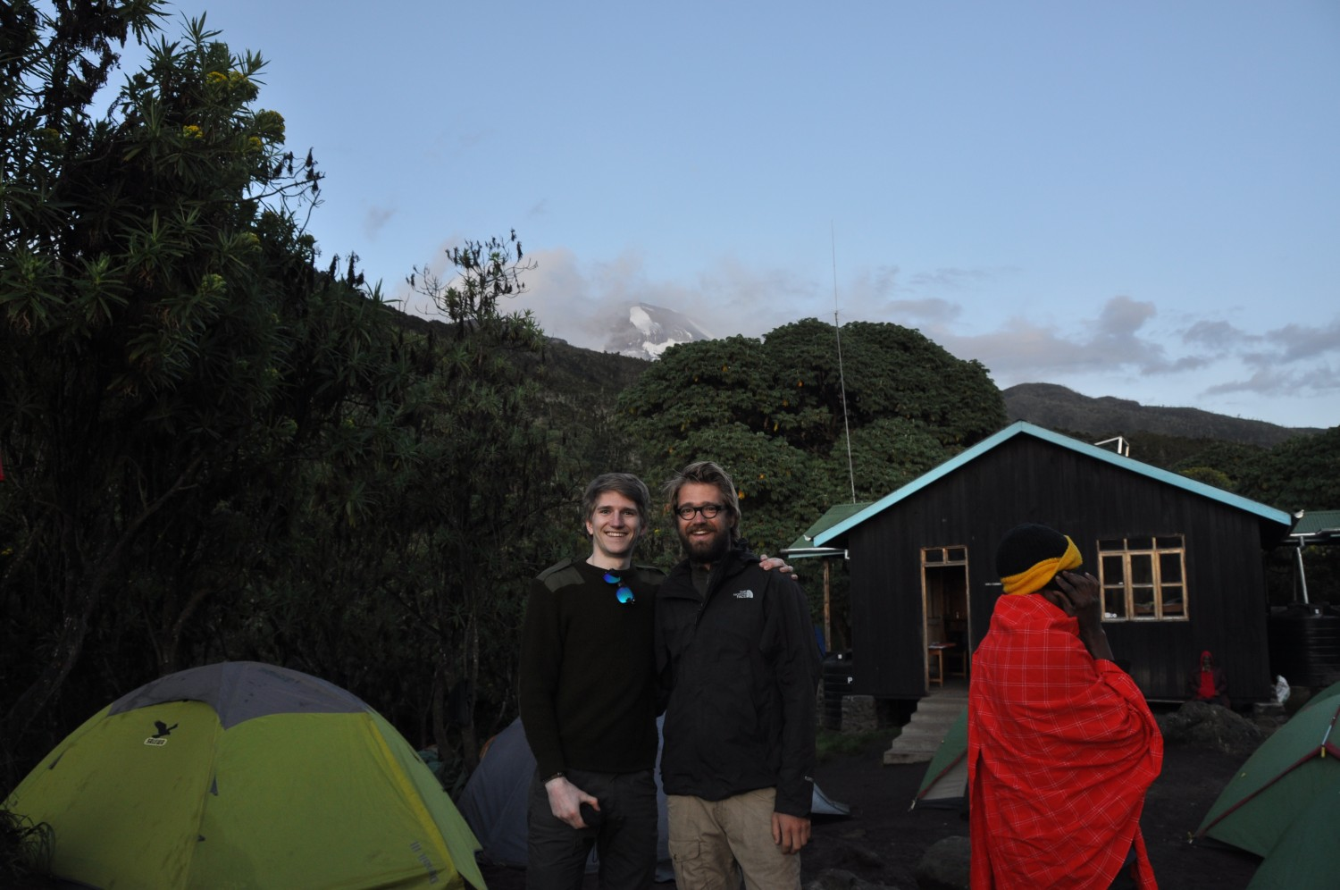 A view on Kibo Peak from Machame camp