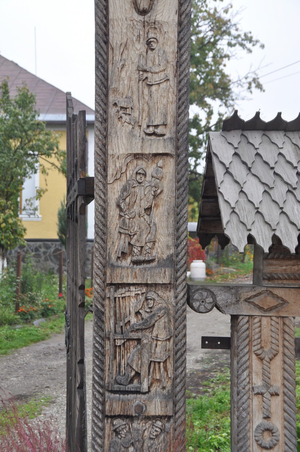 Wooden gate detail