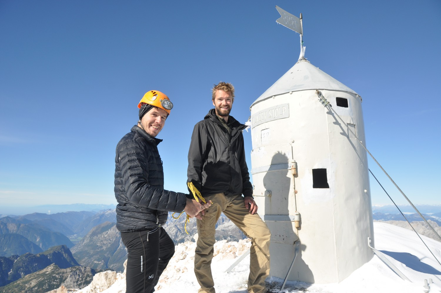 Triglav summit with Jaka