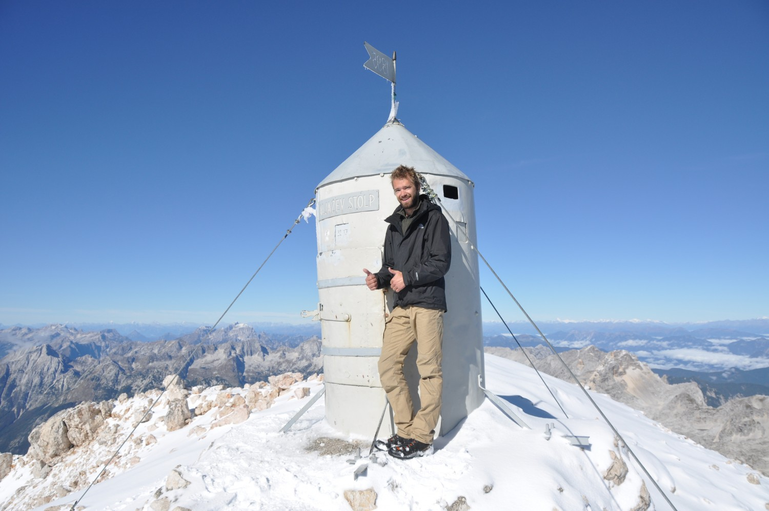 Triglav summit stolp